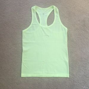 Lululemon Swiftly Tank Top, 6, Neon Yellow